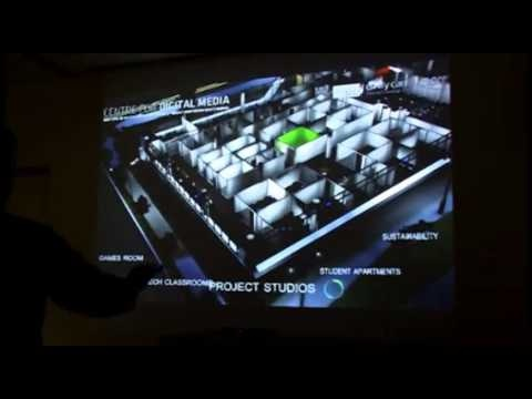 Finger Gesture based Interactive 3D visualization of new Centre for Digital Media Campus, Vancouver