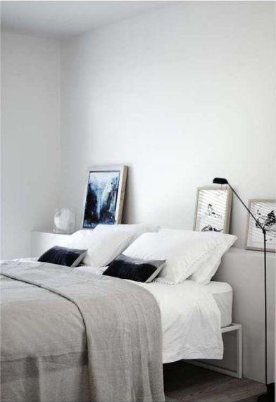 Shareen joel 39 s work scandinavian echoes grey walls for Minimalist grey bedroom