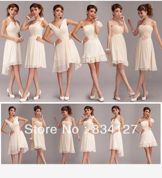 6 tipos de vestido de fiesta estilo dama de honor corto vestido de traje falda todo el tamaño nuevo envío gratis