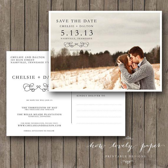 25+ best postcard wedding invitation ideas on pinterest | vintage, Wedding invitations