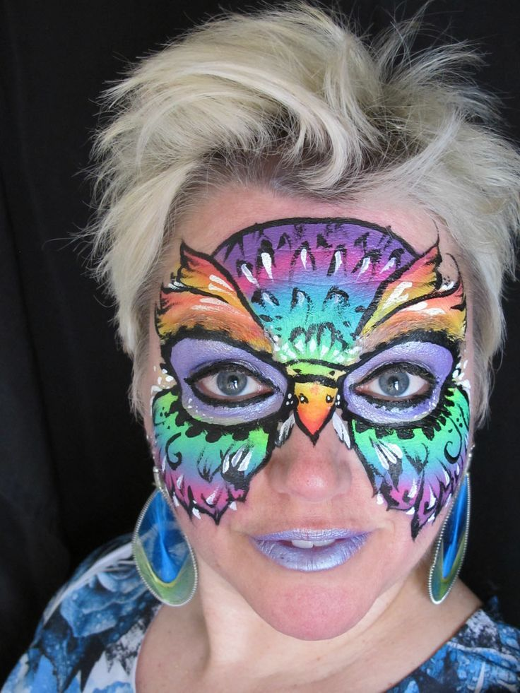 Owl Face Paint | Owl Face Painting