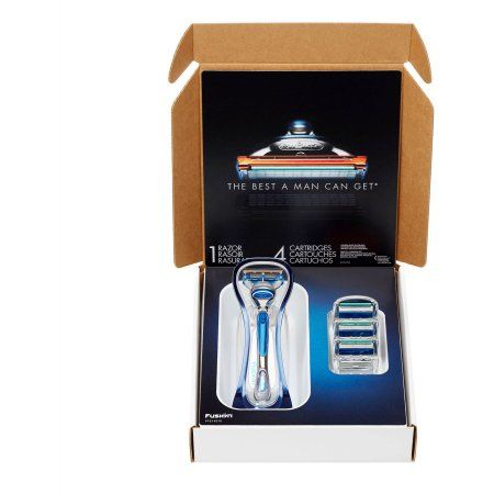 The Gillette Fusion Bundle with Fusion Razor Blades and Handle, 5 pc