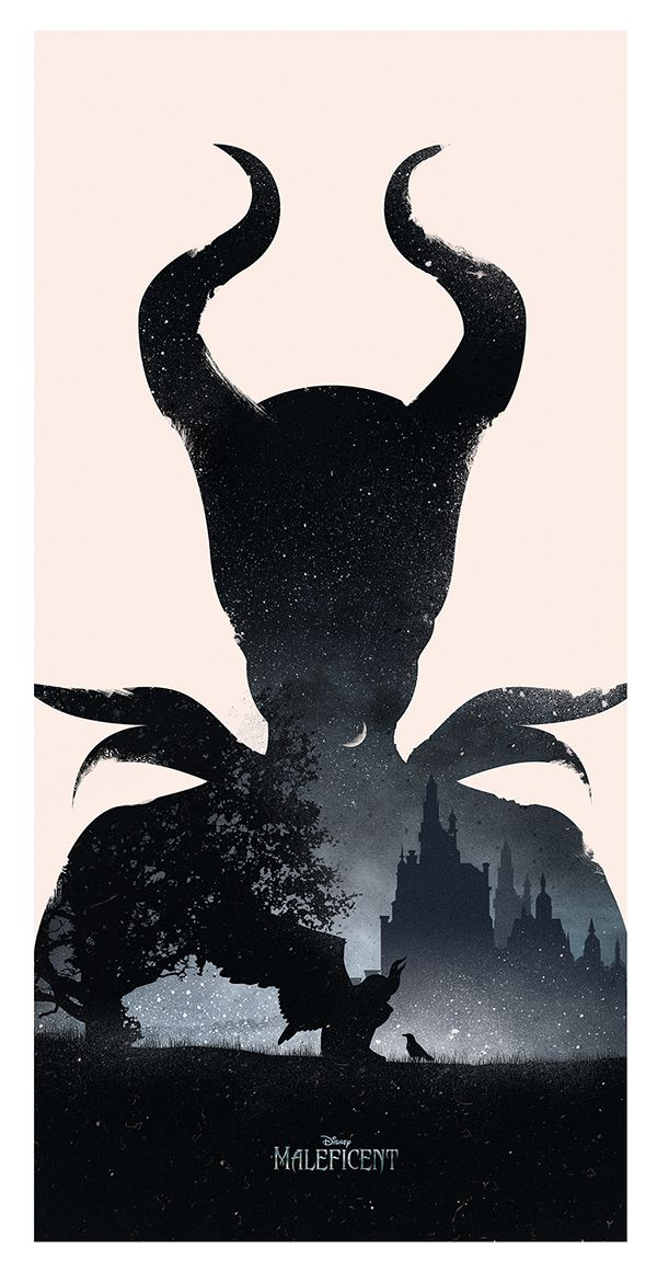 Just a nice silhouette of the character, Maleficent. An important reminder that my character needs a strong silhouette!!