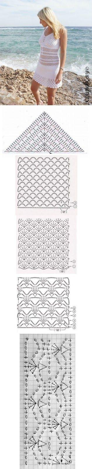 Luty Artes Crochet: Saída de praia em Crochê + Gráficos.                                                                                                                                                                                 Mais