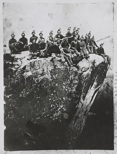 Group of 7th Illinois Soldiers on Lookout Mountain, Tenn., June 19, 1864