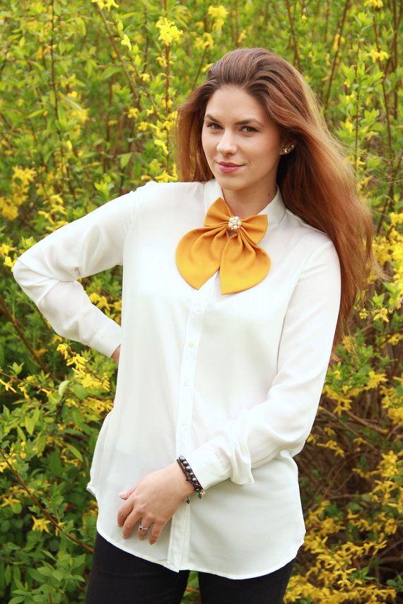 Camel Matte Women's Bow Tie Genuine New by #BowsByVaniaSzasz #Etsy #womanbowtie