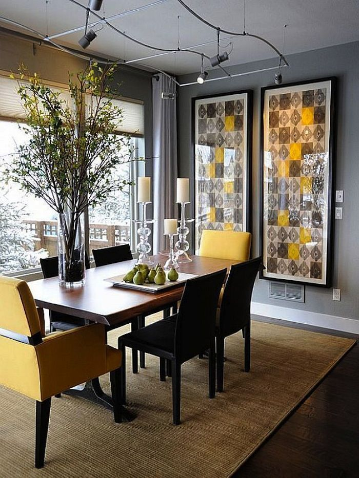 Rectangular Tables For Awesome Dining Rooms Interiordecorstylesawesome Dining Room Decor Modern Dining Room Table Decor Small Dining Room Decor