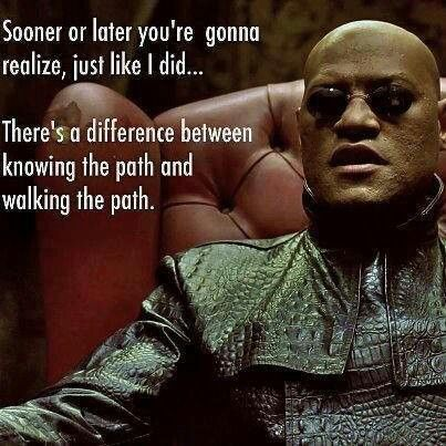 Walk your path once you find it....