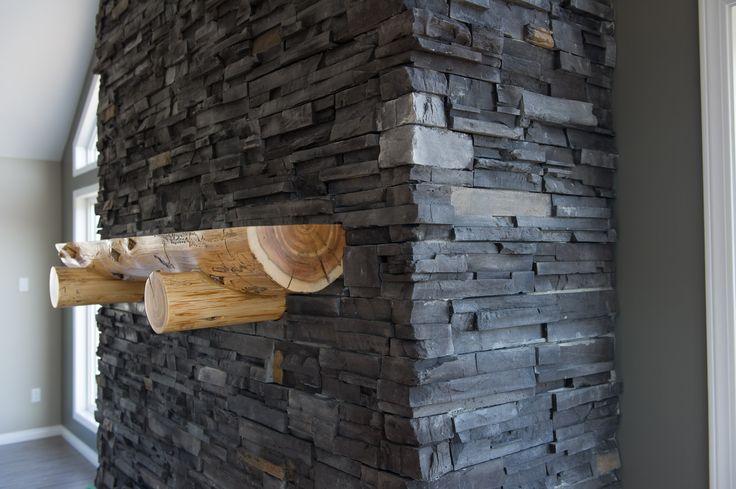Custom fireplace in the Greenville RTM.