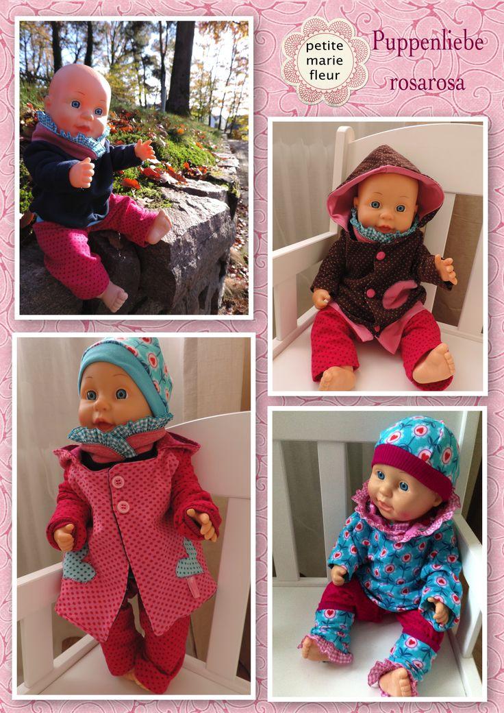 Puppenliebe ! Alles für kleine große Puppenmamis :-) Das neue ebook von rosarosa ist einfach der Knaller !! Wie immer alles genau nachzulesen hier  http://petitemariefleur.wordpress.com/2014/11/18/probenahen-puppenliebe-von-rosarosa/