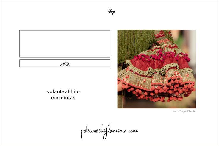 Volante al hilo con cintas Patrones de Flamenca