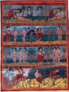 Bible de Moutier-Grandval. Cycle d'Adam et d'Eve. Vers 840 510 x 375mm, 510 folios
