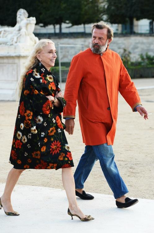 Robert Rabensteiner and Franca Sozzani