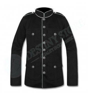 Men's Goth Military Commander Jacket