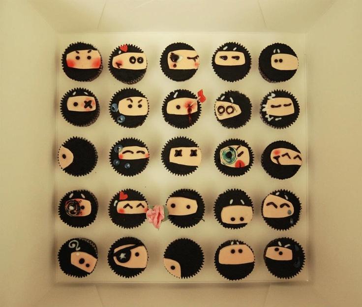 Ninja Cupcakes Photo by pocky_bron | Photobucket