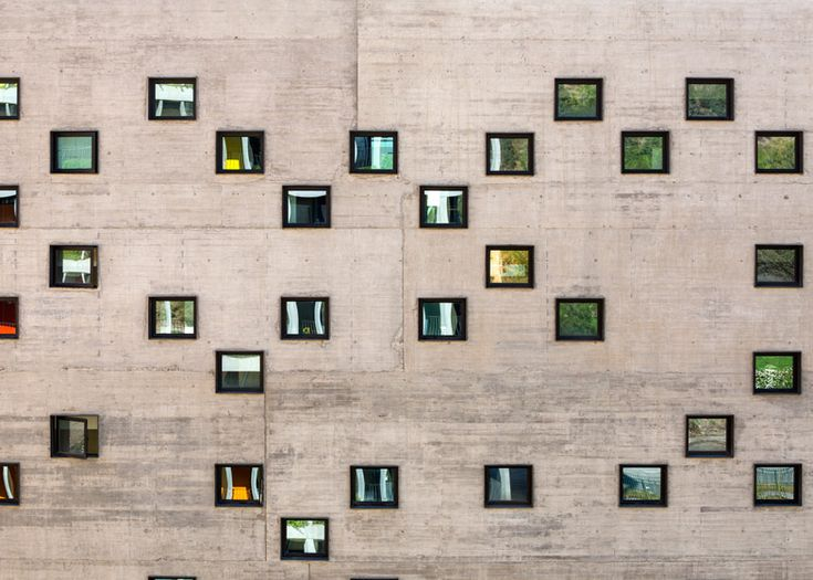 Duque Motta & AA designs punctured concrete at Chilean university