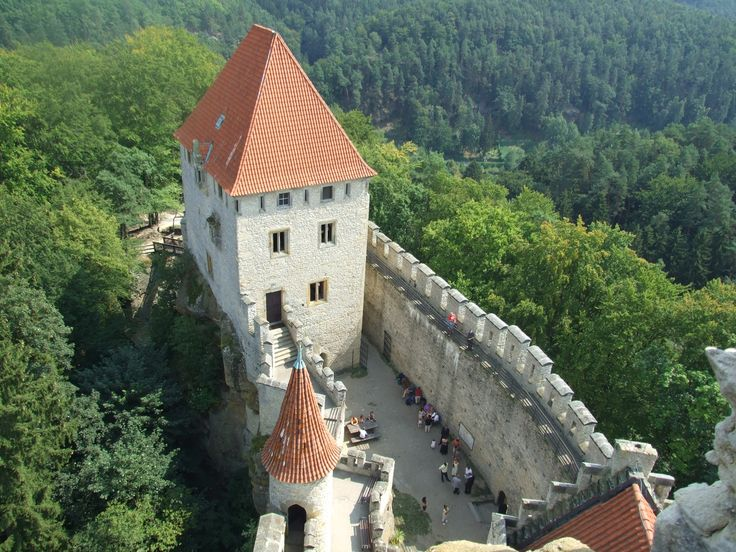 Kokořín, view from the tower