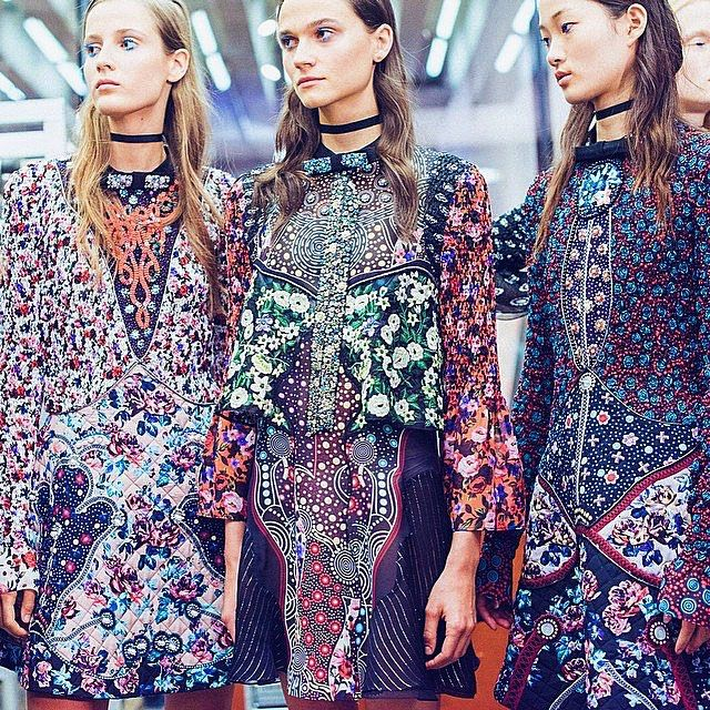 Taking a closer look at the intricate #flower embroidery at #marykatrantzou #SS16 #LFW #regram marykatrantzou (at London Fashion Week)