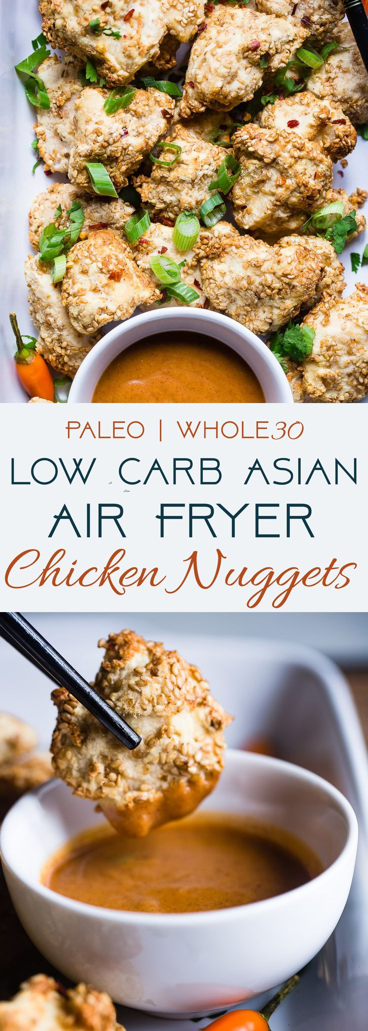 Crispy low carb air fryer chicken nuggets these baked