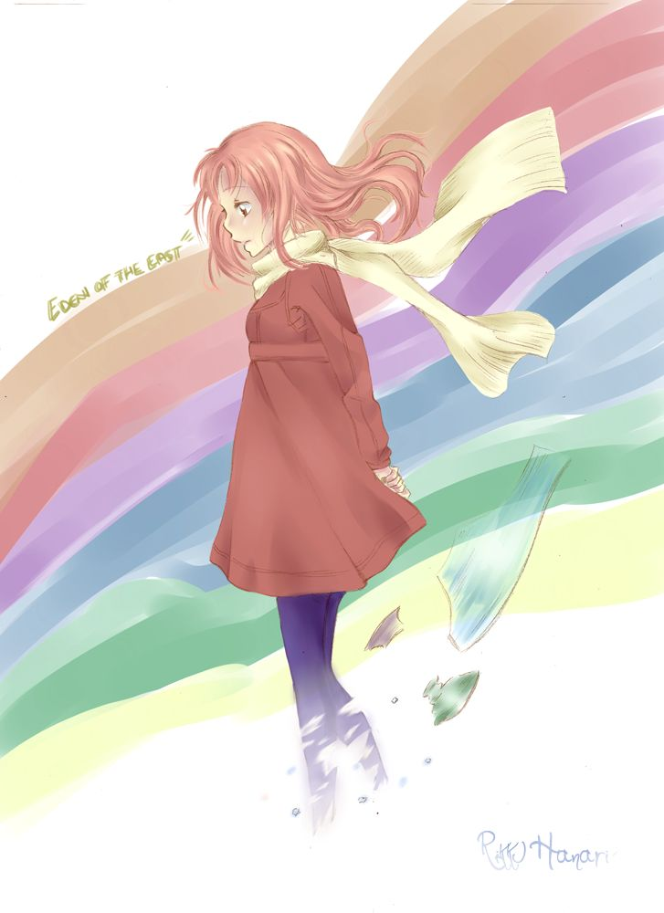 Its Awasomee This Animeee And The Op Inspired Me Link Hope You Like It Art By Saki Eden Of East Higashi No