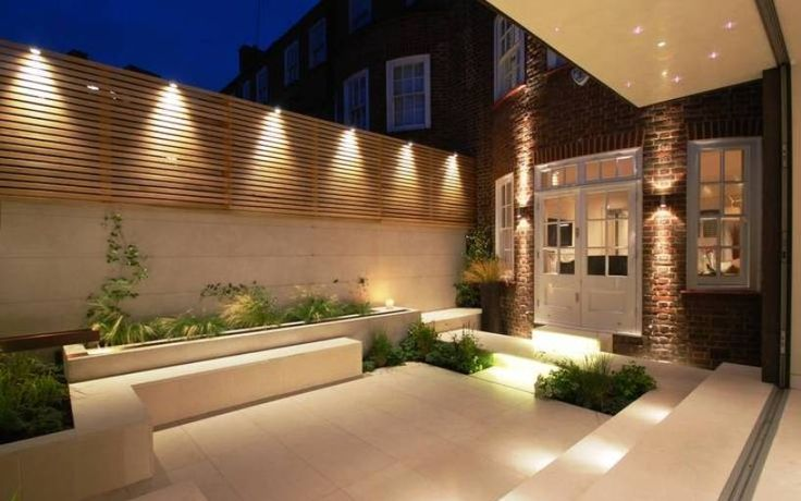 Modern Backyard With Outdoor Recessed Lighting  The Advantages Of Outdoor Recessed Lighting Check more at http://www.bonsaikc.com/the-advantages-of-outdoor-recessed-lighting/