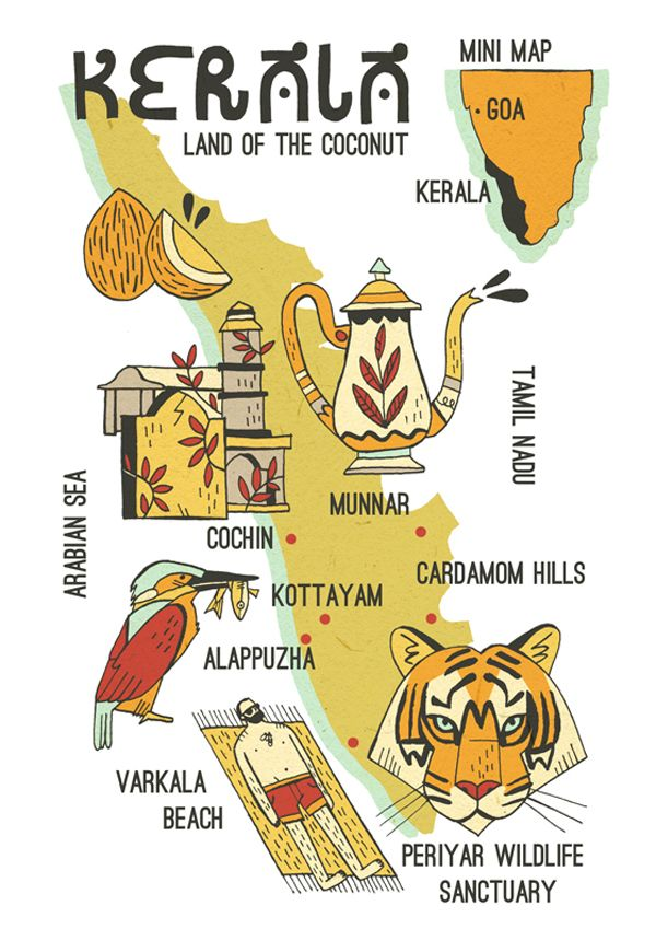 Mapped out Kerala, India | Art and design inspiration from around the world - CreativeRoots