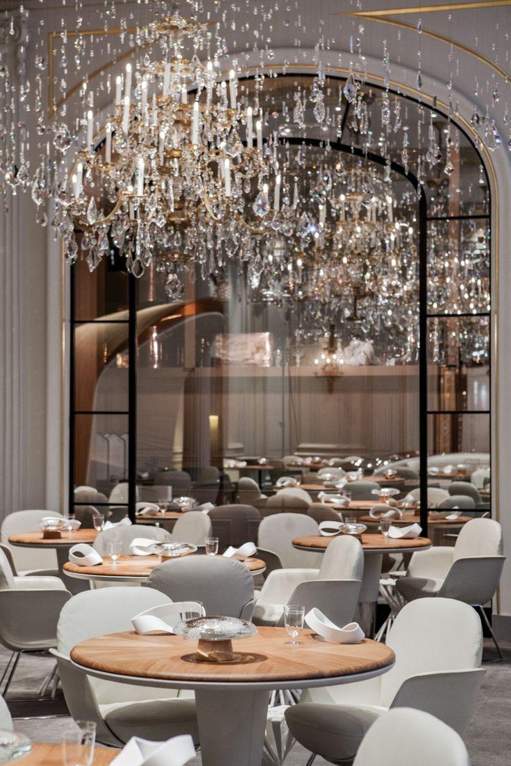 alain ducasse au plaza athne paris restaurant interior design ideas restaurant lighting ideas - Beaded Inset Restaurant Interior