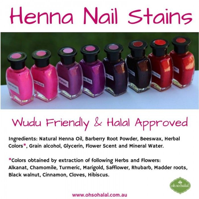 Henna Nail Stains
