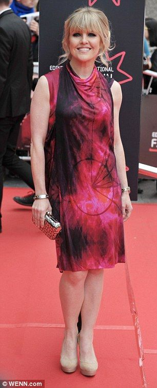 Looking the part: Ashley Jensen wore a tie dye sleeveless high neck dress to the opening g...