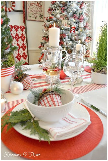 Rosemary and Thyme: A Traditional Holiday Table - Holiday Tablescape Blog Hop