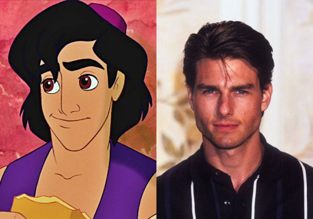 Les people qui ont inspiré les héros Disney : Tom Cruise et Aladdin