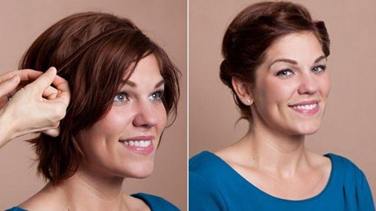 Nem csak hosszú hajat lehet sikkesen feltűzni. Ha már legalább állig vagy valamivel az alá érnek a tincseid, a most következő feltűzött frizurát máris elkészítheted belőle.