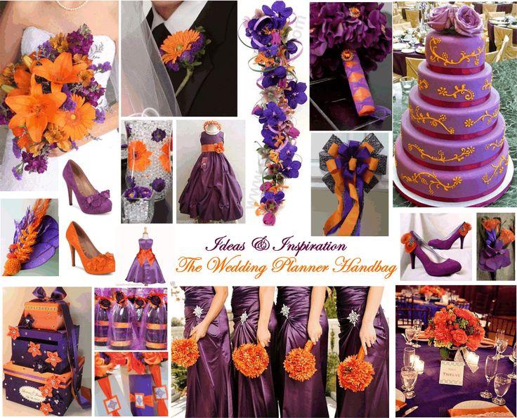 71 Best Purple And Orange Wedding Theme Images On