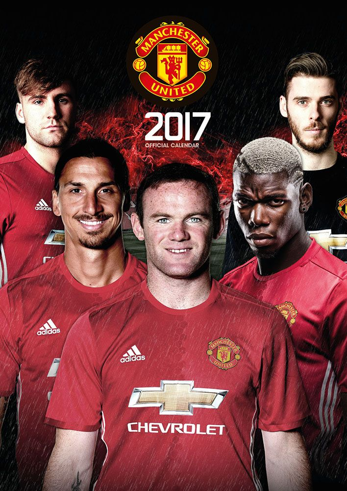 Official Manchester United 2017 Calendar now available for only £8.99 and Free UK Delivery (Worldwide Delivery also available) at http://bit.ly/FootballCals2017