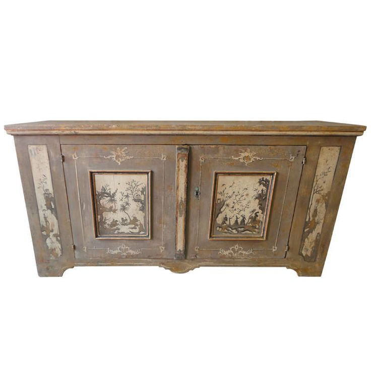 1stdibs.com   Large German Painted Buffet with Chinoiserie Motifs. Germany circa 1870