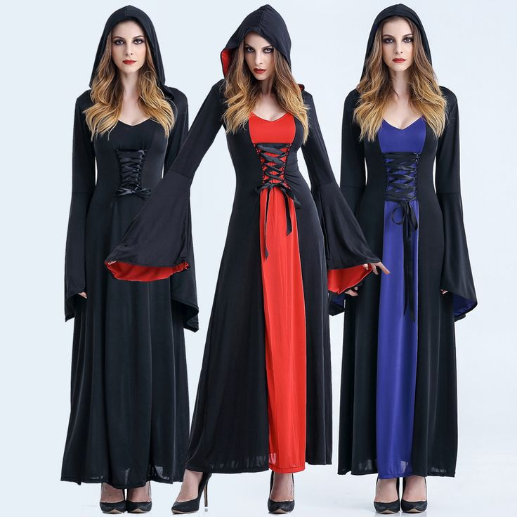 Long Party Dresses - >> Click to Buy << Victorian Halloween Costumes Hoodie Witch Costume Women Long Dress Cosplay Clothes Women 2017 Victorian Halloween Costumes #Affiliate - Winter is here, and with it the latest fashion trends