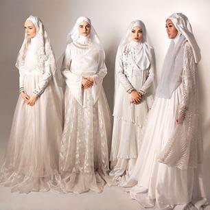 Inspiration syari wedding gown