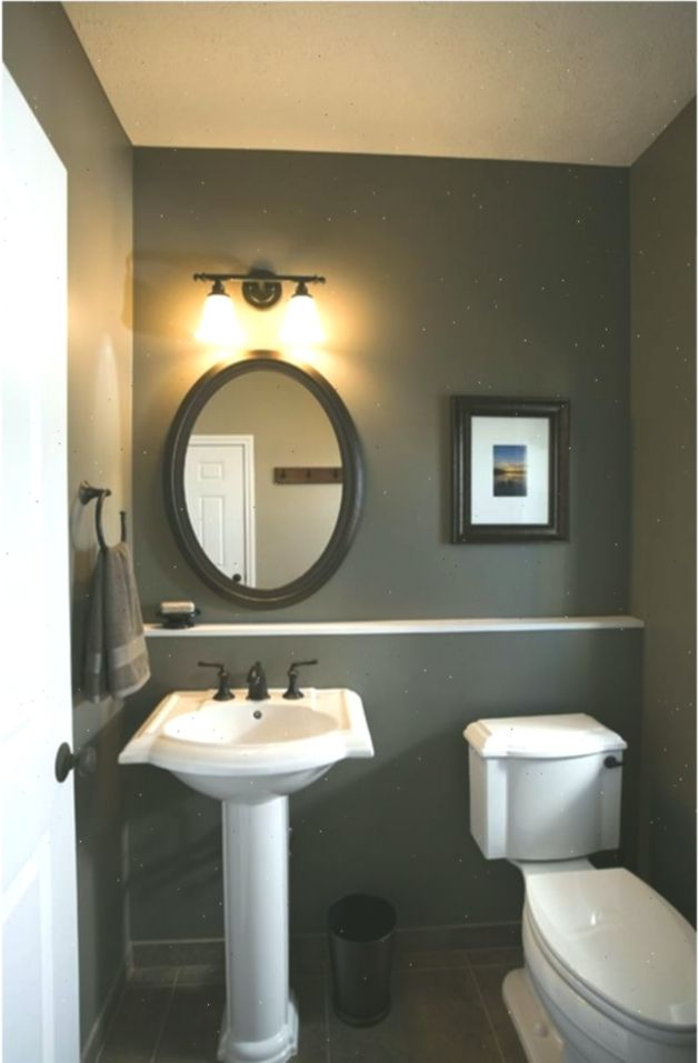 Gray Half Bathroom Decorating Ideas On A Budget 4