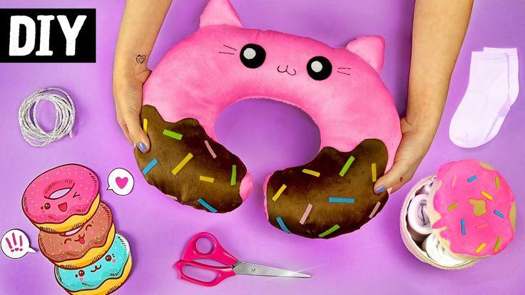 DIYs Donuts Kawaii  Almofada de Viagem, Necessaire e mais...