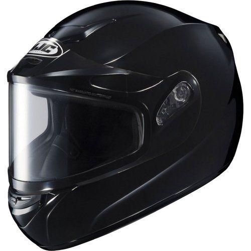 HJC Solid Men's CS-R2 Snow Racing Snowmobile Helmet – Black / Large