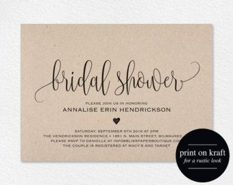 Bridal Shower Invitation Bridal Shower Invites Wedding