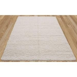 sweet home stores cozy shag collection cream 7 ft 10 in x 9 ft 10 in indoor area rug