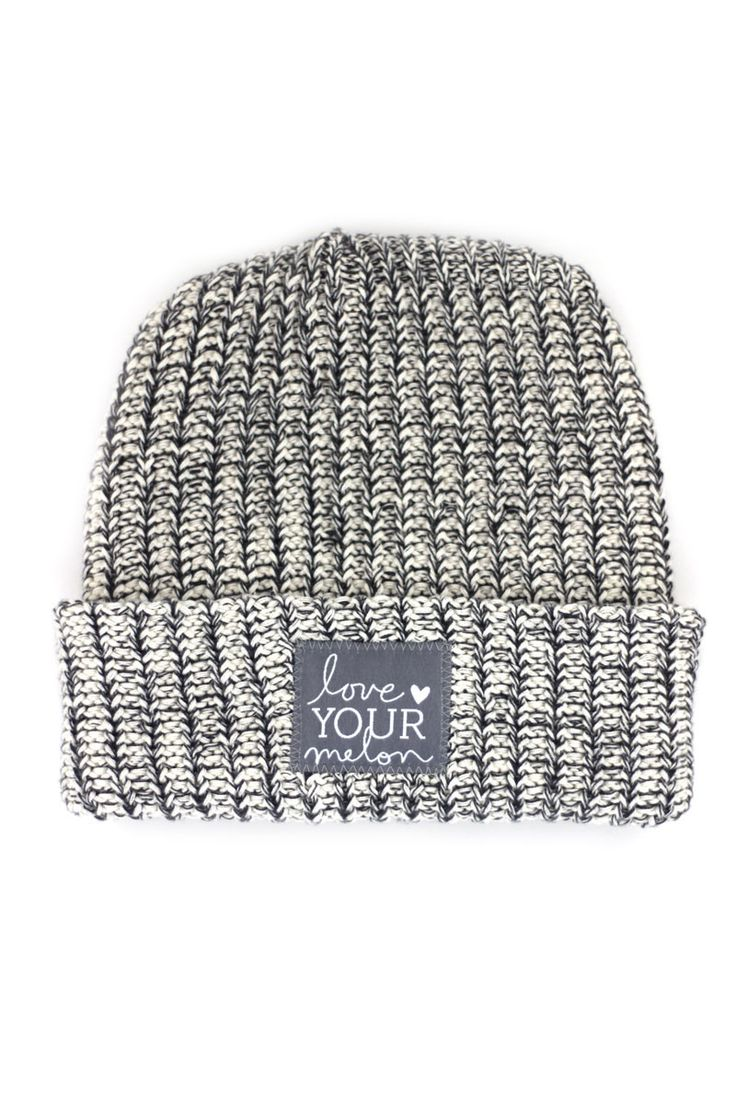 Charcoal Speckled Cuffed Hat | Love Your Melon
