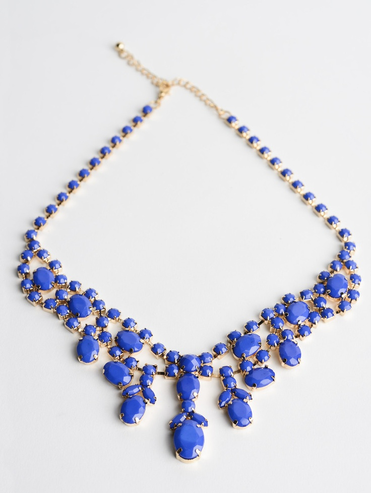 Chandelier Necklace in Blue
