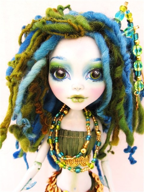Lagoona Blue Monster High Custom doll by Donna Anne www.fantasydollsbyd.com Commissions welcome
