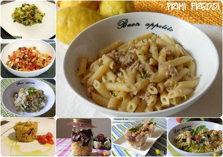 Raccolta di ricette: primi freddi. Elenco di ricette con foto di primi piatti freddi estivi: insalata di riso, pasta fredda, couscous anche vegetariane