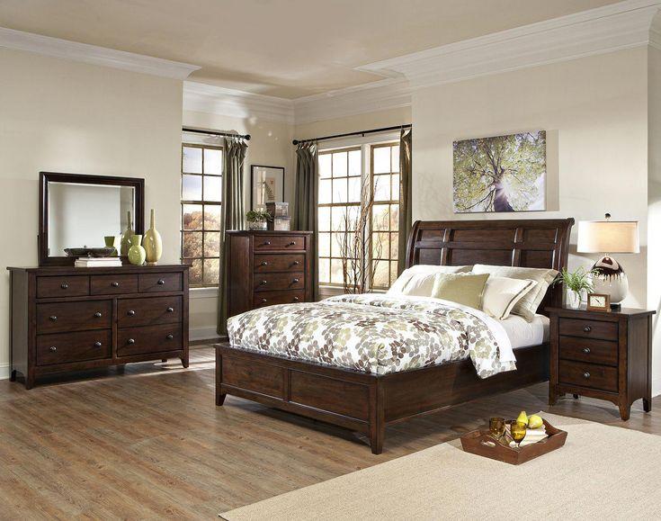 Intercon Furniture Jackson 4-Piece Sleigh Bedroom Set in Raisin #kidsbedroomsets