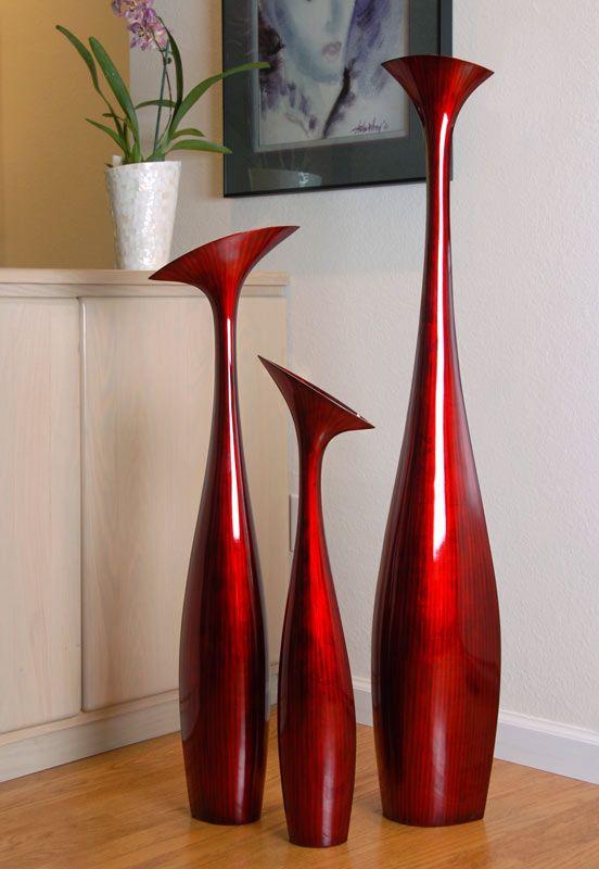 Large Modern Vases   Tall Flower Vases (set of 3)