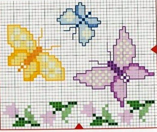 Oltre 25 fantastiche idee su punto croce gratis su for Schemi punto croce fiori e farfalle