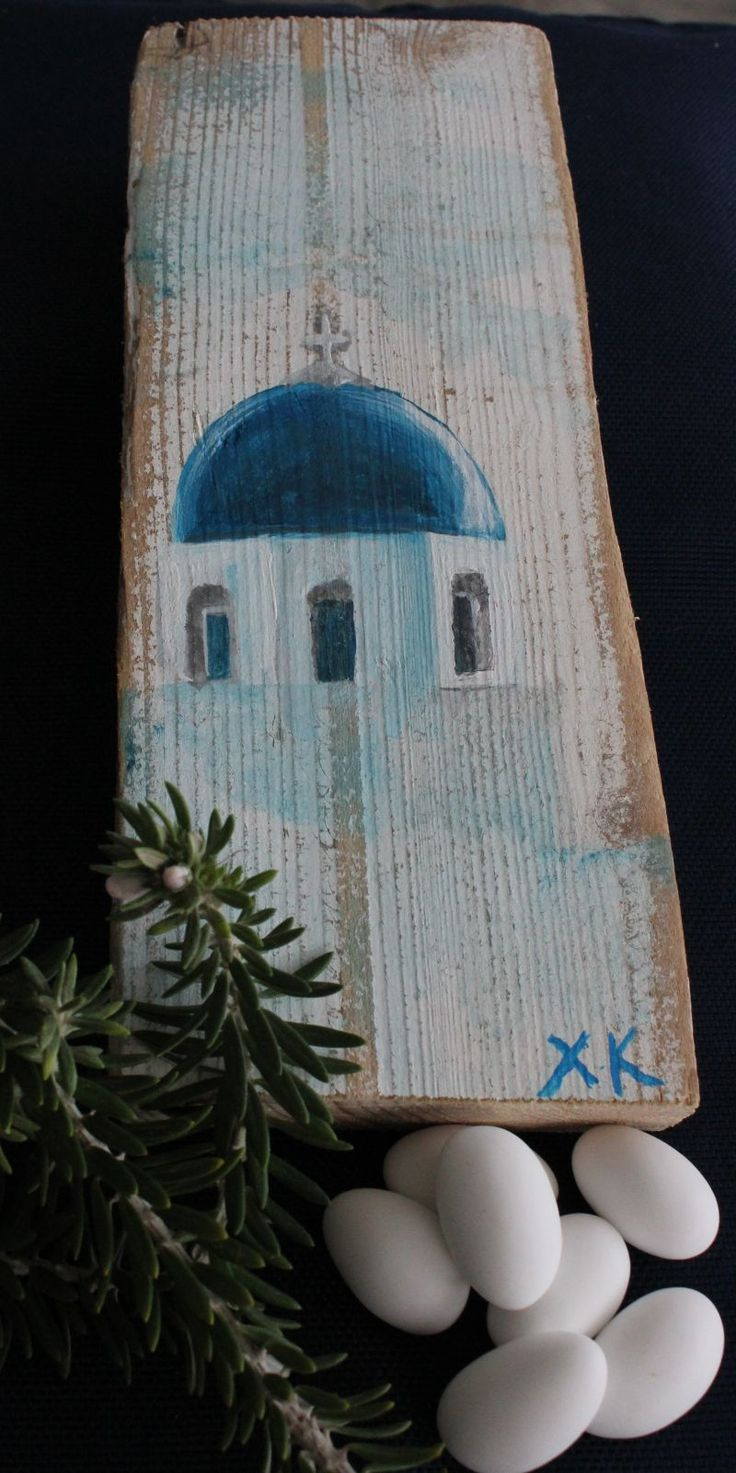 True Santorini favours!!  Painted by a local artist on a commission basis.